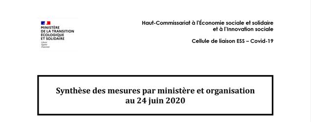 Synthèse des mesures par ministère etorganisation MAJ au 24 Juin 2020