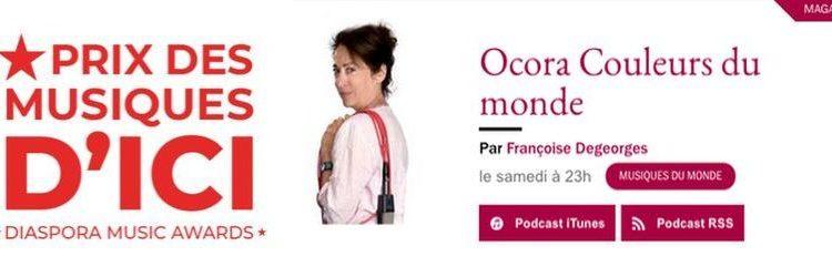 A écouter : Concert des finalistes du Prix des Musiques d'ICI 2020 dans OCORA Musiques du monde sur France Musique