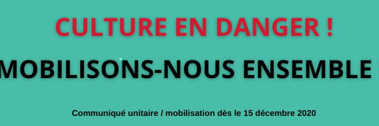 Culture en danger – Mobilisons-nous ensemble le 15 décembre